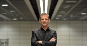 Chris Hadfield, former commander of the International Space Station, photographed in Dublin Airport on his arrival this evening. Photograph: Alan Betson / The Irish Times