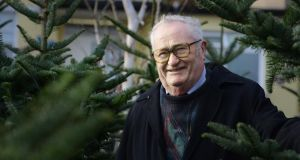 Paul Sexton, selling Christmas trees in Foxrock, Co Dublin. Photograph: Cyril Byrne