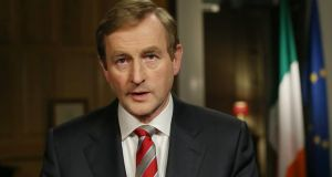 Enda Kenny: 'Your patience and resilience have restored our national pride and empowered us to face the challenges that remain.' Photograph:  Julien Behal/Maxwells/PA Wire