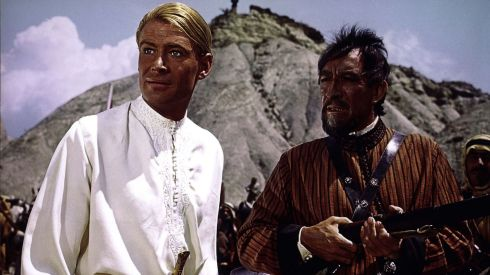 With Anthony Quinn in Laurence of Arabia.