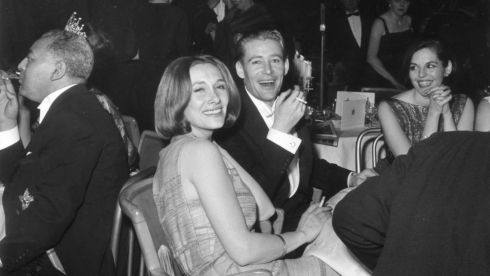 In December 1962 with his then wife, Welsh actor Sian Phillips. Photograph: Hulton Archive
