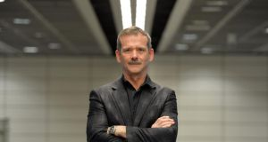 Chris Hadfield, former Commander of the International Space Station, in Dublin Airport on Friday. Photograph: Alan Betson/The Irish Times