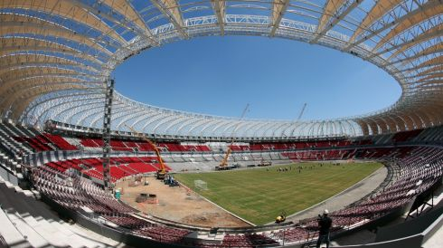 The Beira-Rio stadium in Porto Alegre, Brazil. Photograph: Gernot Hensel/EPA