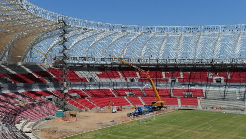 The Beira Rio stadium in Porto Alegre.  Photograph: Shaun Botterill/Getty Images