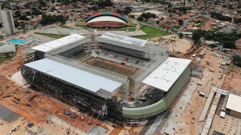 Overview of the Arena Pantanal in Cuiaba. Photograph: Shaun Botterill/Getty Images