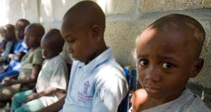 Four thousand schools have been lost in Haiti, but the young population is booming. Photograph: AP