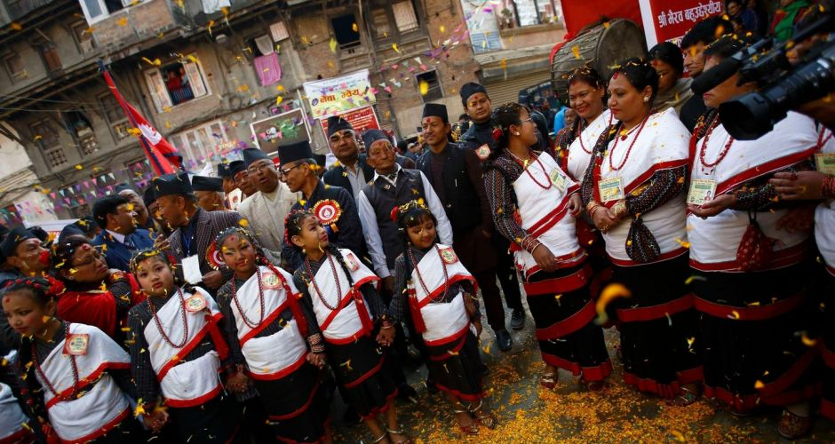 Sights from Kathmandu's street festival