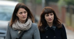 Elisabetta  and Francesca Grillo, former personal assistants to Charles Saatchi and Nigella Lawson, arriving at Isleworth Crown Court in west London on December 10th. Francesca Grillo told the court on Tuesday that she frequently found rolled-up banknotes with white powder on them in Ms Lawson's handbag. Photograph: Andrew Matthews/PA
