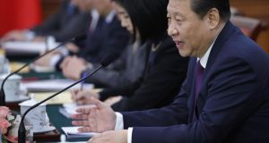 The Beijing authorities are angry about a series of investigations into the wealth of China's political elite, including President Xi Jinping (above). Photograph: Kim Kyung-Hoon-Pool/Getty Images