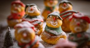Choux us a good time: simple choux pastry snowmen