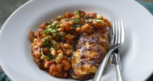 Baked beans and rarebit. Photograph: Brenda Fitzsimons