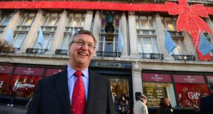 Mananging director of Clerys Dominic Prendergast at the reopening of the department. Photograph: Frank Miller