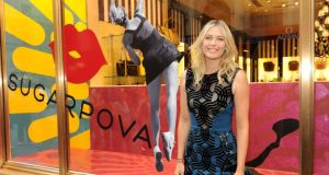 Maria Sharapova celebrates the first  anniversary of her candy and accessories company Sugarpova in New York city. Photograph:  Craig Barritt/Getty Images