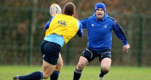 Shane Jennings in action during a Leinster squad training session. Photograph: Dan Sheridan/Inpho