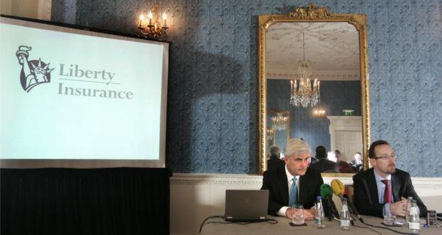 David Long, chief executive of Liberty Mutual Group and Pat O'Brien, CEO of Liberty Insurance. Photo: Dara Mac Dónaill/The Irish Times