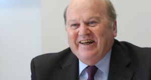 Minister for Finance Michael Noonan. Gross Domestic Product increased by 1.5 per cent during the third quarter according to  the CSO. Photo: Bloomberg