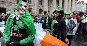 Gather ye people:  the St Patrick's Festival invited up to 8,000 people from around the world to march in the Dublin parade. Photograph: Brenda Fitzsimons