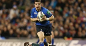 Leinster's Brian O'Driscoll in action against Northampton Saints in their Heineken Cup clash at the Aviva Stadium last weekend. Photograph: Billy Stickland/Inpho