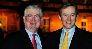 Daunting tasks: Tánaiste Eamon Gilmore (left) and  Taoiseach Enda Kenny. Photograph: Aidan Crawley