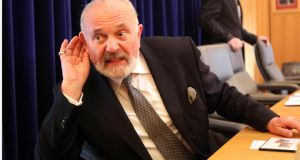 Independent Senator David Norris said he had written to the Committee on Procedure and Privileges to give priority to an invitation to Pope Francis to address the Seanad. Photograph: Brenda Fitzsimons