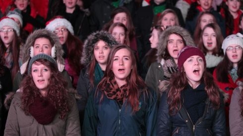 Carol singers from around Ireland gather at Croke Park for the Stars Choirs and Carols concert. Photograph: Niall Carson/PA Wire