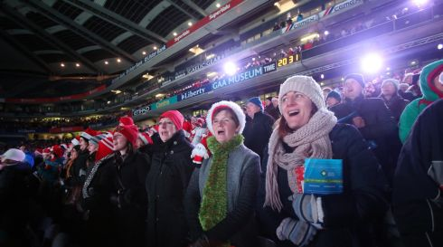 Carol singers at the Stars Choirs and Carols concert in Croke Park: Photograph: Niall Carson/PA Wire