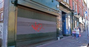 Closed for business: empty shops in Dún Laoghaire. Photograph: Eric Luke