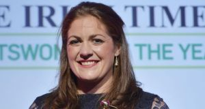 Fiona Coghlan, who captained Ireland's womens rugby team to their first-ever Six Nations Grand Slam this year, was crowned The Irish Times/Irish Sports Council 'Sportswoman of the Year for 2013'at an awards ceremony at the Shelbourne Hotel, Dublin. Photograph: Alan Betson