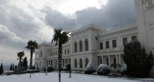 The Livadia Palace in Yalta, the summer home of the last Russian tsar and where the allied leaders met  in  1945 to reshape a shattered Europe. Photograph: Daniel McLaughlin