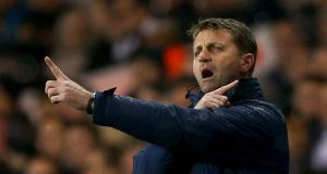Totternham's interim manager Tim Sherwood gives instructions during the League Cup quarter-final defeat to West Ham at White Hart Lane. Photo: Paul Gilham/Getty Images