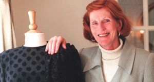 Designer Pat Crowley who launched her autumn/winter collection for 1996, this week. Photograph: Eric Luke