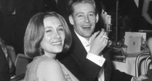 Peter O'Toole with his first wife Welsh actress Sian Phillips in 1962