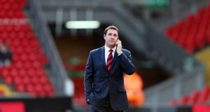 Cardiff manager Malky Mackay before the Premier League match at Anfield. Photograph: Peter Byrne/PA Wire.