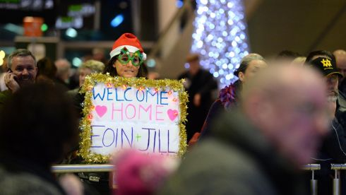 Waiting at arrivals. Photograph: Dara Mac Donaill / The Irish Times