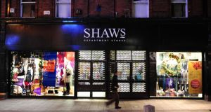 Shaws employs 107 people and had employment costs of about €4 million, the accounts show. Photograph: Aidan Crawley