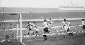 Tottenham Hotspur hosting West Brom on December 28th 1963 at White Hart Lane
