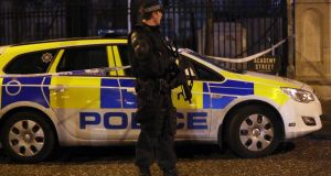 A gun attack has been carried out on a police station in Northern Ireland, Justice Minister David Ford has said. Photograph: Paul Faith/PA Wire.