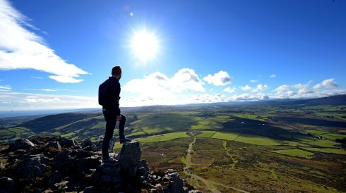 On top of the Sugarloaf Mountain, Co Wicklow, in November. Photograph: Eric Luke/The Irish Times
