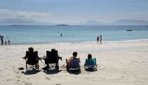 Making the most of the beautiful weather at O'Carrolls Cove, near Waterville, Co Kerry, in July.  Photograph: Frank Miller/The Irish Times