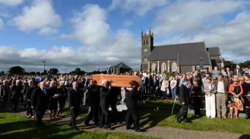 The funeral of Seamus Heaney, at Bellaghy, Co Derry, in September. Photograph: Dara Mac Dónaill/The Irish Times