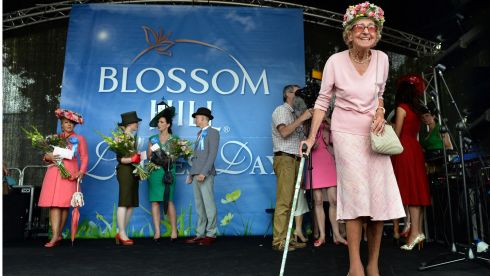 Betty Edwards (92), from Terenure, a finalist in the Blossom Hill Ladies Day at the Dublin Horse Show in the RDS in August. Photograph: Brenda Fitzsimons/The Irish Times
