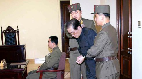 Jang Song-thaek, with his hands tied, is dragged into court by uniformed personnel on December 12th. An uncle of the North Korean leader Kim Jong-un, he was reported executed very soon afterwards. Photograph: Yonhap/Reuters