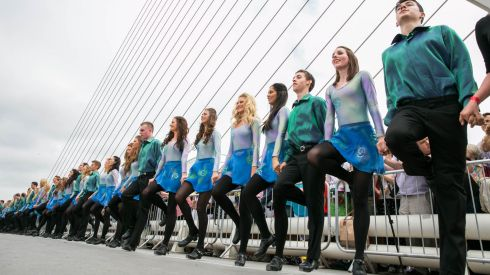 A close-up view of the Riverdancers. Photograph: Naoise Culhane