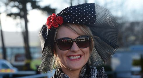 Hannah Stewart from Raheny at Leopardstown. Photograph:  Eric Luke/The Irish Times