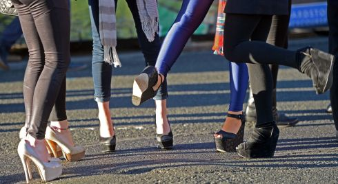 Fancy footwork at the Leopardstown festival. Photograph:  Eric Luke/The Irish Times