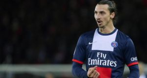 "Paris Saint-Germain's Swedish forward Zlatan Ibrahimovic: ""I was asked in the summer who was the better player, me or Lotta Schelin. You're joking with me, right?""  Photo: Kenzo Tribouillard/Afp/Getty"