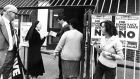 A nun hands out 'Yes' leaflets at the polling station on Basin Lane, Dublin, on polling day, September 7th, 1983. Photograph: Pat Langan/The Irish Times