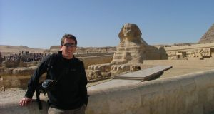 Ruairi McDermott takes in the sights in Egypt