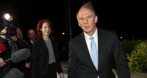 Dr Richard Haass and Harvard professor Meghan O'Sullivan, arrive at the Stormont Hotel Belfast, to meet the five executive parties involved in the current peace talks.