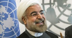 Iranian President Hassan Rouhani. Photograph: Andrew Burton/Getty Images)